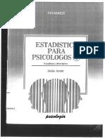 Amón, Jesús - Estadística Para Psicólogos I [Estadística Descriptiva]