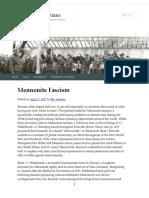 Mennonite Fascism