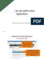 WOP App Form