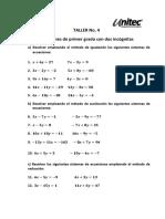 Matemáticas Básicas Taller 4