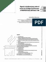 Luciano Barchi - Algunas Consideraciones Sobre El Receso en El Código Civil Peruano a Propósito Del Artículo 1786