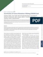 Inactivation of Cancer Mutations Utilizing CRISPR Cas9