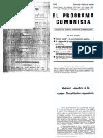 El Programa Comunista 29