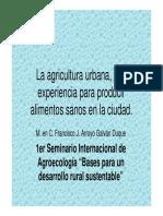 La Agricultura Urbana, Una Experiencia Para Producir (Francisco J. Arroyo Galván Duque)