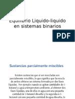 Clase 10- Equilibrio Líquido-líquido