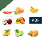 Frutas Dulces Semiacidad y Acida