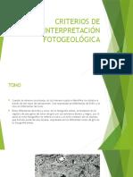 Criterios de Interpretación Fotogeológica