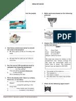 ENGLISH Quiz Sem2
