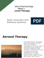Aerosol Delivery