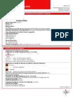 Ficha de Datos de Seguridad Isosorbida