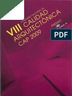 VIII Calidad Arq 2009
