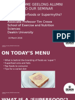 Superfoods or Supermyths Geelong