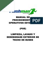 Poe - Limpieza en Exterior Del Bus - Limpieza Integral Del Techo