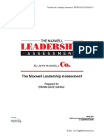 John Maxwell Leadership Assessment