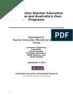 Best Practice Teacher Education Programs