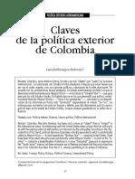 Claves de la politica exterior en Colombia.pdf