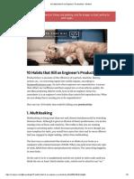 10 Habits That Kill an Engineer's Productivity – Medium