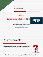 Indices Urbanísticos  (Prof. Maria Tereza Pouey)