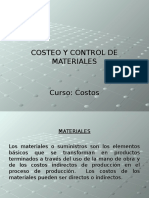 Valuación y Control de Materiales