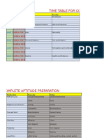 Timetable for Aptitude