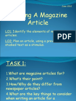 Writing an Magazine Article (KS4)