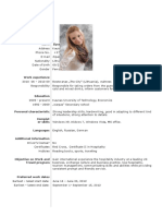CV ZIP Work and Travel SUA