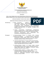 Peraturan Menteri Ketenagakerjaan No.28 Th.2014