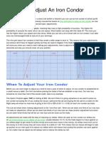 6 Ways to Adjust an Iron Condor