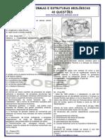 Formas e Estruturas Geológicas 40 Questões