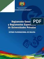 reglamento universidades privadas