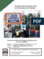 E-Verify and Employment Sanctions Laws