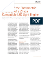 Criteria of the Photometric Interface of a Zhaga Compatible Led Light Engine