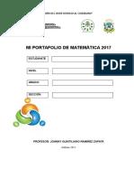PORTAFOLIO matemático 2017