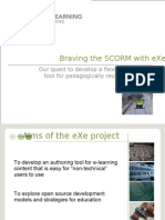 EXE Scorm Manual for the e-Learning Content generator