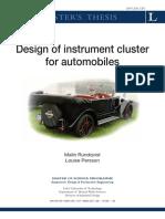 Design of Instrument Cluster