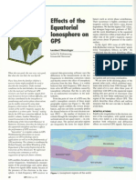 Effects of the Equatorial Ionosphere on Gps