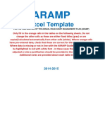 Aramp - Excel Template