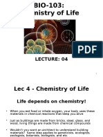 Lec 4,5 Chemistry of Life