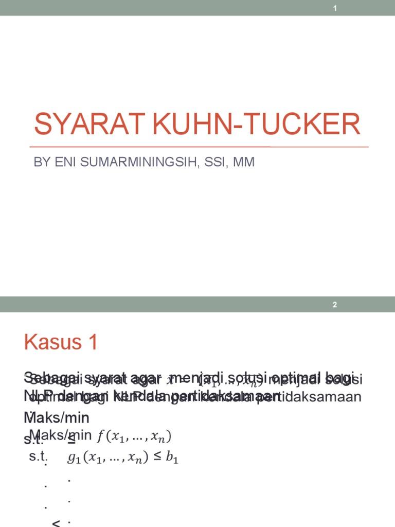 Syarat Kuhn Tucker