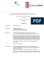 The rise of polarisation and radicalisation in Europe. Seminar in Rimini.