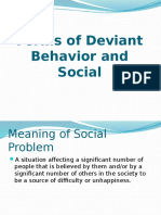 Forms of Deviant Behavior and Social