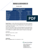 Ekstrak rumput laut-Technicial Sheet-Seaweed Extract-Ganzhou Green Top Biological Technology Co.,Ltd.
