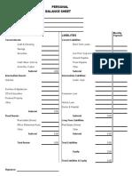 Reap Personal Balance Sheet