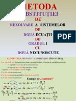 Metoda Substitutiei