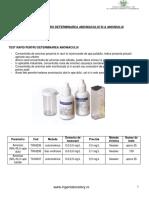 Test Rapid Pentru Determinarea Amoniacului Si Amoniului