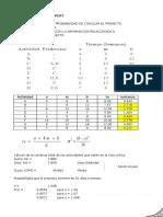 Ejemplo de Método PERT.xlsx