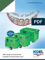 KOEL Chhota Chilli Gensets  - 3 - 5 kVA Portable Diesel Genset