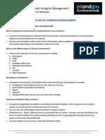 Corrosion Management Course Summary Module 3