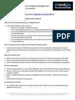 Corrosion Management Course Summary Module 5