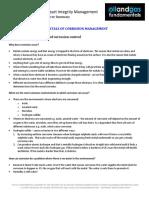 Corrosion Management Course Summary Module 6